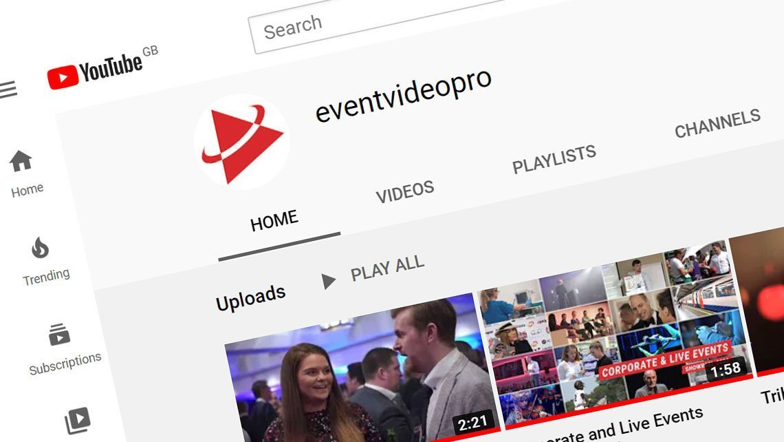 eventvideopro on YouTube