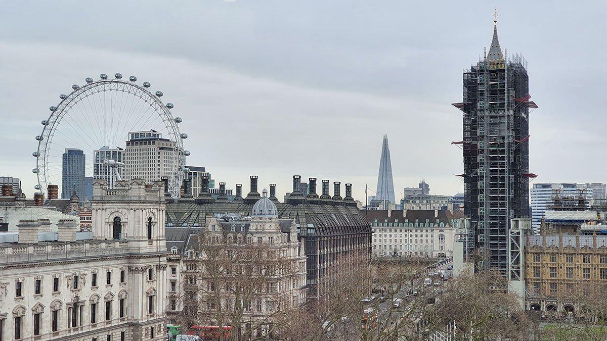 Skyline with Big Ben and London Eye